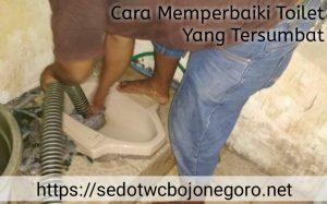 Cara Memperbaiki Toilet yang Tersumbat
